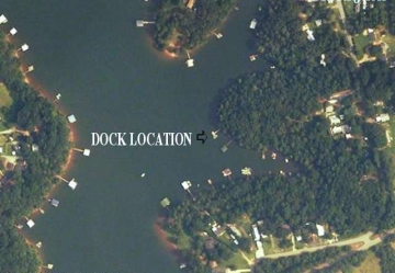Lake Hartwell aerial map for Lakewood Dr. Townville SC