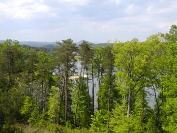 Lake Hartwell view from home Toccoa GA