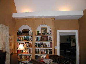 Built ins in music room